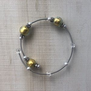 Silver and Gold Simple Bracelet